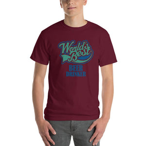 World's Best Beer Drinker Beer Lover T-Shirt-Maroon-S-Awkward T-Shirts