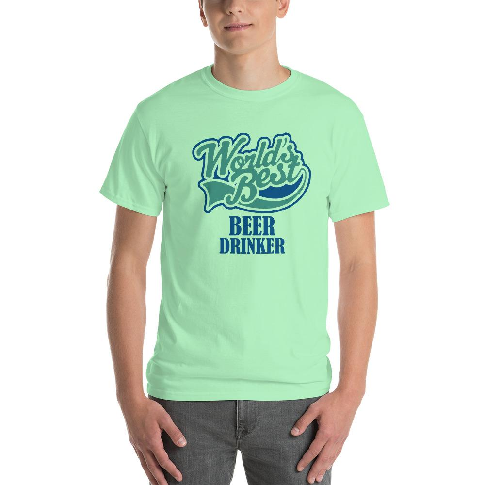 World's Best Beer Drinker Beer Lover T-Shirt-Mint Green-S-Awkward T-Shirts
