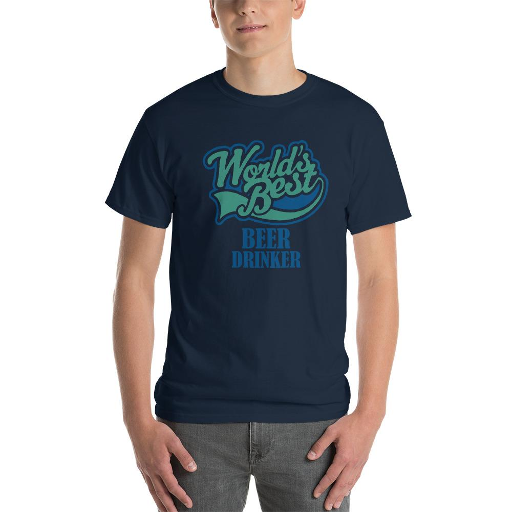 World's Best Beer Drinker Beer Lover T-Shirt-Navy-S-Awkward T-Shirts