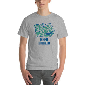 World's Best Beer Drinker Beer Lover T-Shirt-Sport Grey-S-Awkward T-Shirts