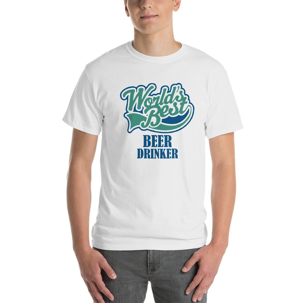 World's Best Beer Drinker Beer Lover T-Shirt-White-S-Awkward T-Shirts
