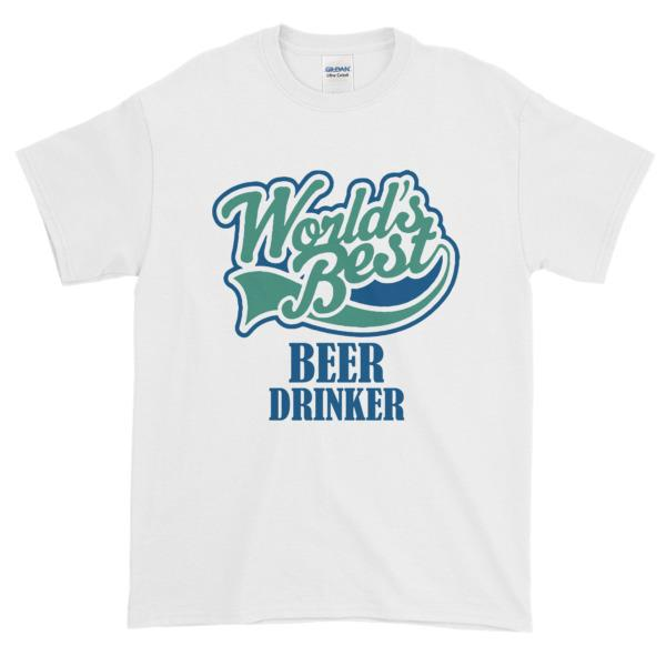 World's Best Beer Drinker T-shirt-White-S-Awkward T-Shirts