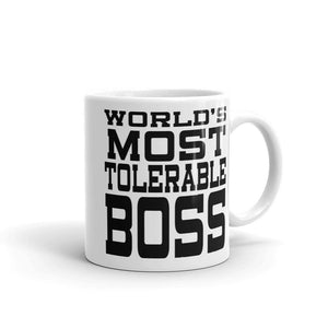 World's Most Tolerable Boss Mug Gift for Boss