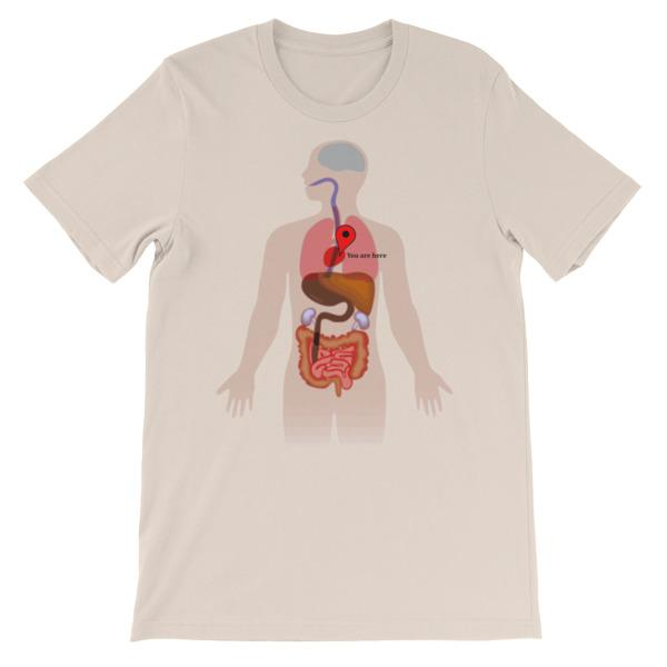 You Are Here Anatomy Medical T-shirt-Soft Cream-S-Awkward T-Shirts