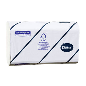 KLEENEX Super Soft Multifold Paper Hand Towels, 2-PLY, 8.5X16.3, White,94/pkg  30/cs