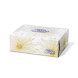 White Swan Facial Tissue       80/bx    135/cs    #8500
