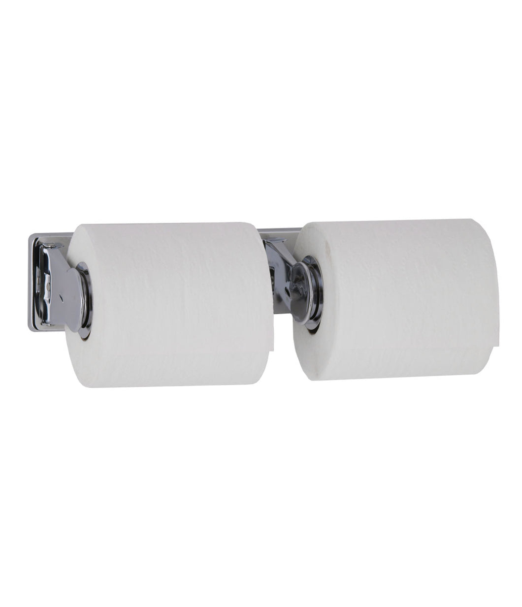 Surface-Mounted Vandal-Resistant Toilet Tissue Dispenser for Two Rolls