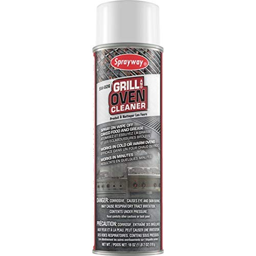 Sprayway SW826 Oven and Grill Cleaner, 18 oz