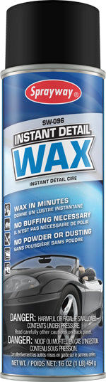 Sprayway Instant Wax 096 – car care 20oz can