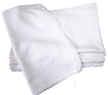 Bar Towels All White 100% Cotton 16x19