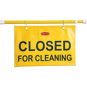 """Closed for Cleaning"" Site Safety Hanging Sign"