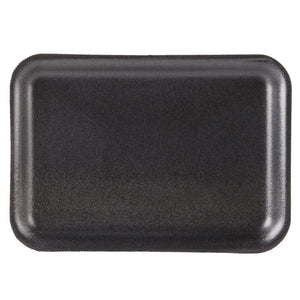 "Foam Tray Black 8 1/4"" x 5 3/4"" - 500/Case"