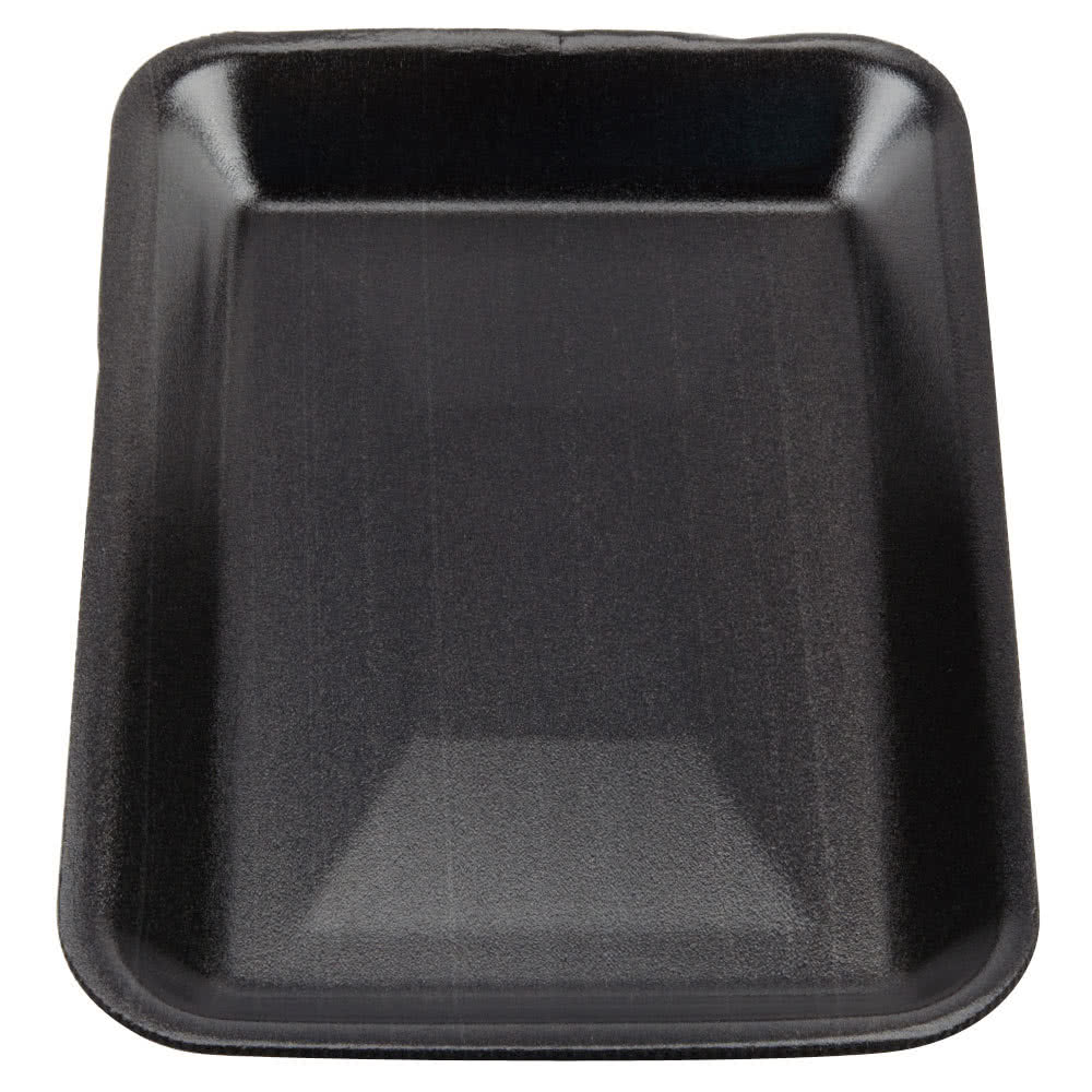 Genpak 1002 (#2) Foam Meat Tray Black 8 1/4