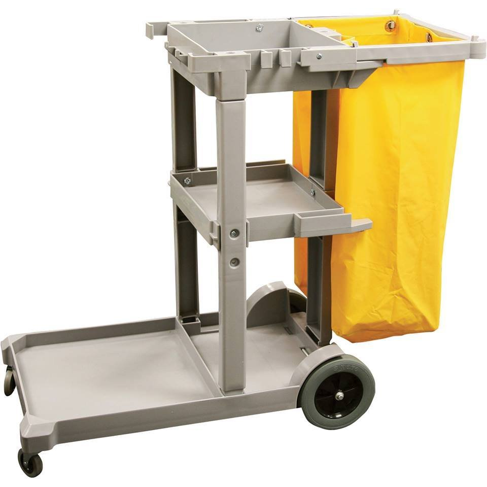 Janitor Cart Grey With Bag