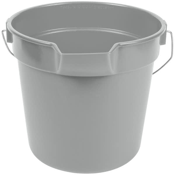 Bucket 10 Qt. Gray Round Multi-Purpose