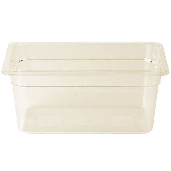 Amber High Heat Food Pan1/3 Size - 6
