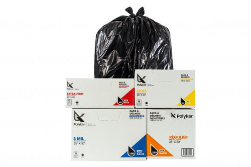 Strong Black Garbage Bags
