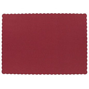 "Placemats - Paper, Scalloped Edged - 9.5"" X 13.5""    1000/cs"