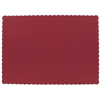 Placemats - Paper, Scalloped Edged - 9.5