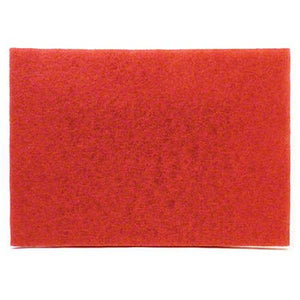 "Floor Pad - 3M™ 5100 Red Buffer Pad - 20"" x 14"
