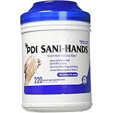 Sani-Hands Instant Hand Sanitizing Wipes (220/Tub)