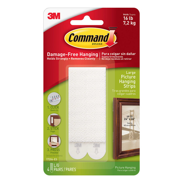 Command strips by 3M-Hang pictures without damaging walls !