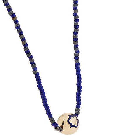 TRINITY ENAMELED BALL NECKLACE