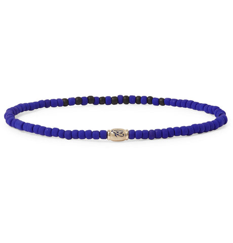 ENAMELED HORUS EYE BARREL BRACELET
