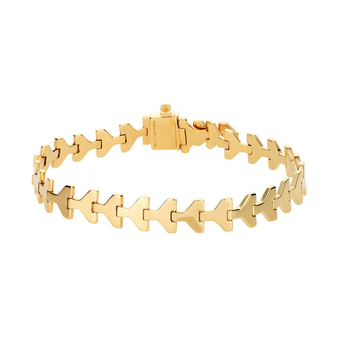 Gold Arrow Link Bracelet