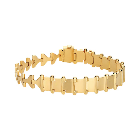 Gold Arrow ID Link Bracelet