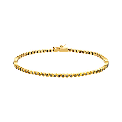 Gold Tennis Bracelet With Black Diamonds