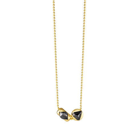 Dual Black Diamond Necklace