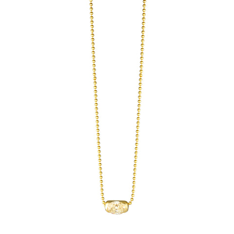 Gold Pill With Diamond Necklace