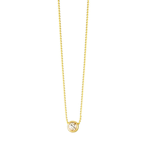 Gold Ball With Diamond Necklace