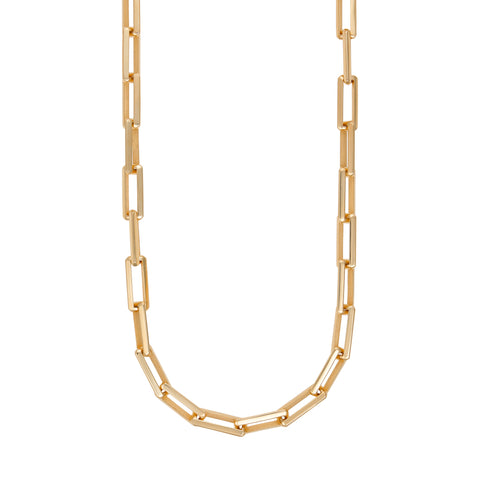 Gold Link Necklace With Small Link Clasp