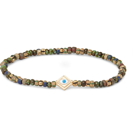 ENAMELED PROTECTION EYE LOZENGE BRACELET