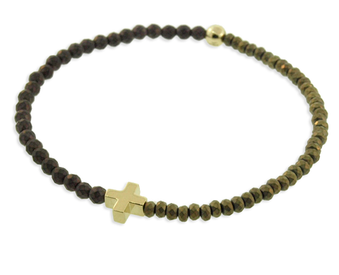 GREEK CROSS & BALL BRACELET