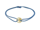 Gold Moonstar Coin On Cord Bracelet