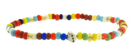 MINI DICE BEADED BRACELET