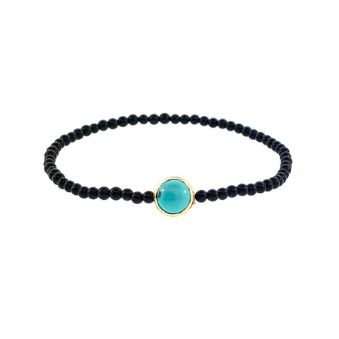 GOLD COLLAR WITH TURQUOISE AND LAPIS CABOCHON GEMSTONE BRACELET