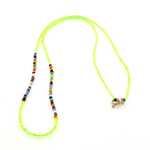 Height of Summer Neon Skull Outline Necklace