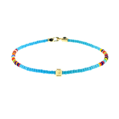 Height of Summer Initial Bracelet