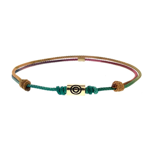 Gold Evil Eye On Cord Bracelet