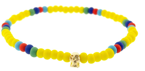 MINI YELLOW GOLD SKULL BRACELET