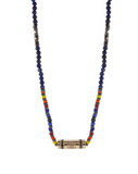 Gold Evil Eye Diamonds On Gemstone Beaded Necklace