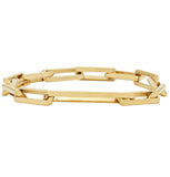 Gold Link Bracelet With Large Clasp