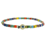 ROUND EVIL EYE BALL BEADED BRACELET