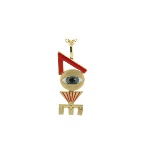 LOVE EYE ENAMELED PENDANT