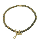 GOLD MONKEY WITH SPACER BEADED BRACELET