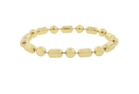 Gold Pill Ball Bracelet